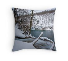 Cold waterfalls Throw Pillow