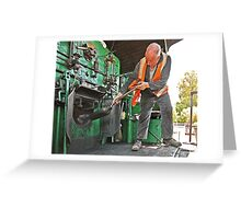 Stoker on Steam Engine 2705 Greeting Card
