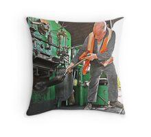 Stoker on Steam Engine 2705 Throw Pillow