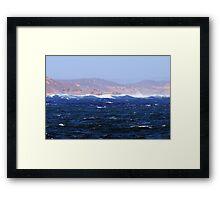 Turbulant Waters Framed Print