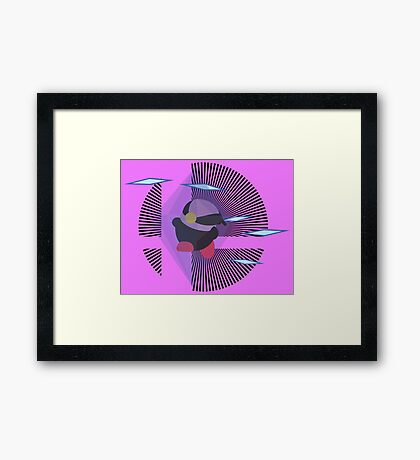 Zelda (Kirby Hat) - Sunset Shores Framed Print