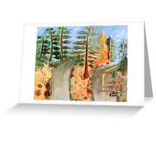 College Landscape Greeting Card
