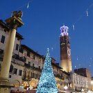 Season Greetings to all my RB friends. Night view of Piazza delle Erbe, Verona by presbi