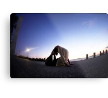Yoga in the evening Metal Print