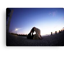 Yoga in the evening Canvas Print