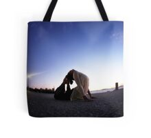 Yoga in the evening Tote Bag