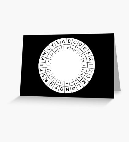 The One (Decoder) Ring Greeting Card