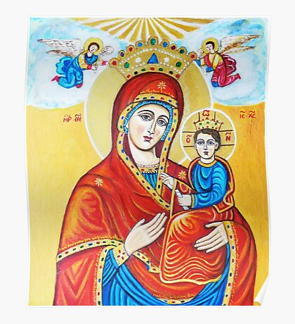 Virgin Mary with the Child Jesus  Poster