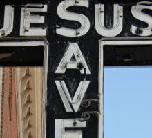 Jesus Saves Sign Sticker