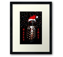 Happy Christmas Dalek Christmas Card Cards Framed Print