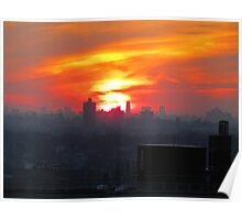 Rooftop sunset, New York City  Poster