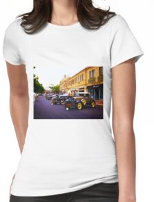 Vintage, Antique Cars on Display, Color Womens Fitted T-Shirt