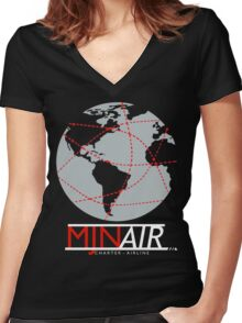MJN Air! Women's Fitted V-Neck T-Shirt