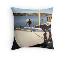 Boat, West Sweden Throw Pillow