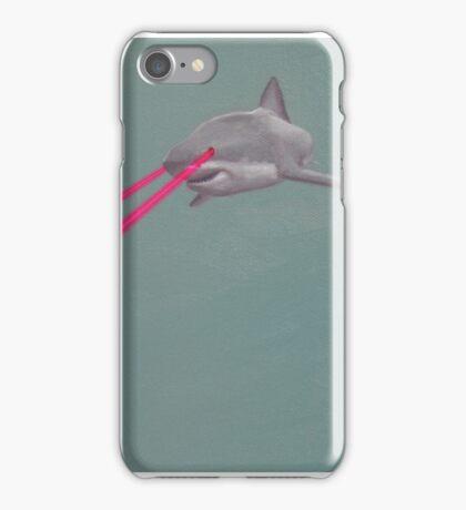 Great White Laser Eyes iPhone Case/Skin