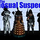 The Whosual Suspects Dr Who Greetings Card Poster by ste6475