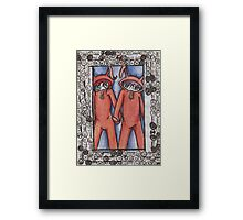 Bunny Suit Love Framed Print