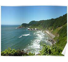 Oregon Coastline Poster