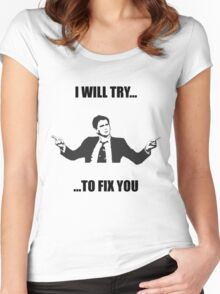 David Tennant: Fix You Women's Fitted Scoop T-Shirt
