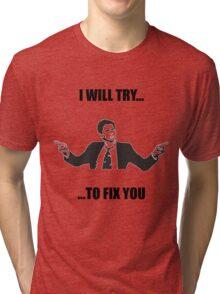 David Tennant: Fix You Tri-blend T-Shirt