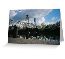 Bridge over the Willamette River Greeting Card