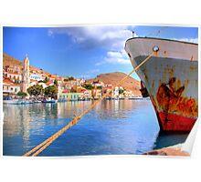 Nimborio Harbour Poster