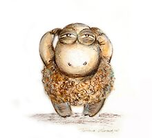 """Wise little sheep"" by Tatjana Larina"