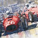 Lancia D50 Alberto Ascari Monaco 1955 by Yuriy Shevchuk