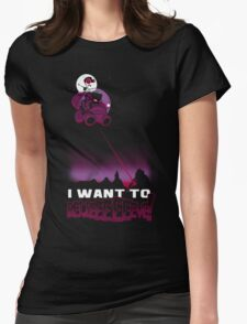 I Want to BELIEEEEEEVE! Womens Fitted T-Shirt