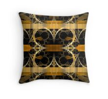 Splits-Crop Gold Throw Pillow
