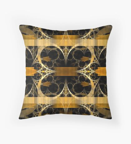 Splits-Crop Gold Throw Pillow