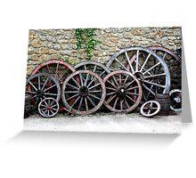Cart Wheels Greeting Card