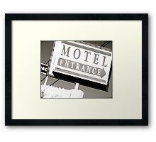 Motel Private Framed Print