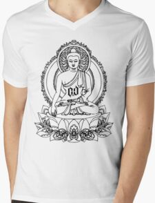 BUDDHA ONYX BLACK Mens V-Neck T-Shirt