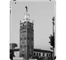Giralda Tower, Country Club Plaza, Kansas City, Black and White iPad Case/Skin