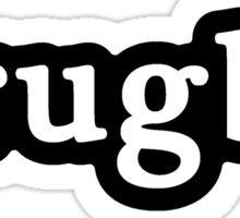 Rugby - Hashtag - Black & White Sticker