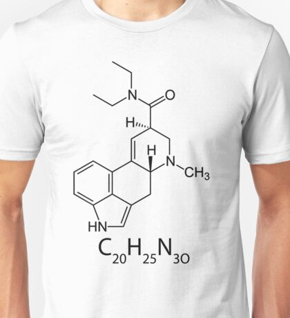 LSD Chemical Structure Unisex T-Shirt
