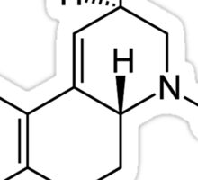 LSD Chemical Structure Sticker