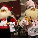 Bartender Santa and his friend, Chef Santa by Patricia127