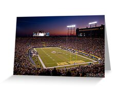 Lambeau at Sunset Greeting Card