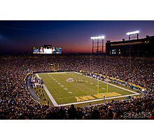 Lambeau at Sunset Photographic Print