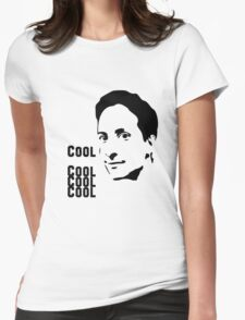 Cool. Cool Cool Cool.  Womens Fitted T-Shirt
