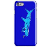 Sharky On Blue: iPhone Case iPhone Case/Skin