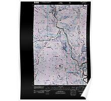 USGS Topo Map Washington State WA Orient 20110505 TM Inverted Poster