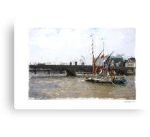 Thames Barges Canvas Print