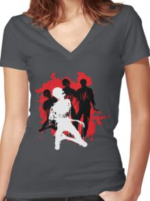Decaying Zombies Women's Fitted V-Neck T-Shirt