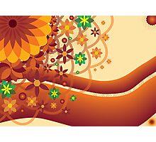 Floral burst in Orange Photographic Print