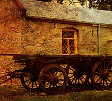 Bon Accord Cottage and Cart at Burra by Wendi Donaldson