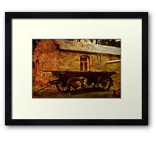 Bon Accord Cottage and Cart at Burra Framed Print