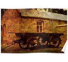 Bon Accord Cottage and Cart at Burra Poster
